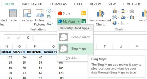 plot excel data on a map my hub