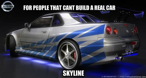 build your own nissan skyline for that cant build a real car skyline nissan