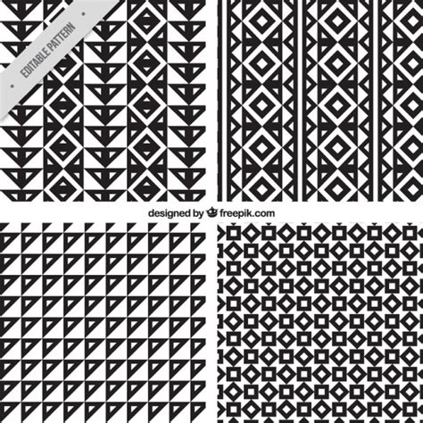 tribal pattern vector download four tribal patterns vector free download