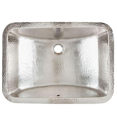 hammered nickel starr bath sink