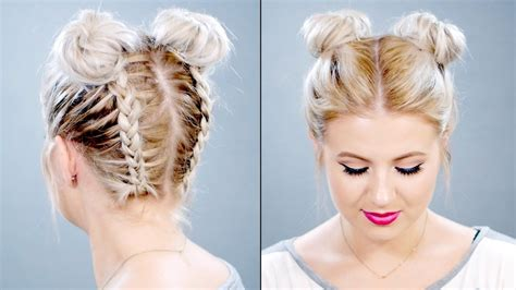 Hairstyles Buns How To Hair Buns by Braided Space Buns On Hair Milabu H A I R