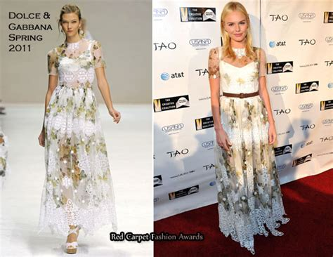 Catwalk To Carpet Kate Bosworth In Dolce Gabbana kate bosworth in dolce gabbana 2011 creative coalition
