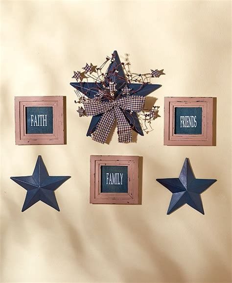 country star decorations home country star wall decor sentiment ribbon vines berries