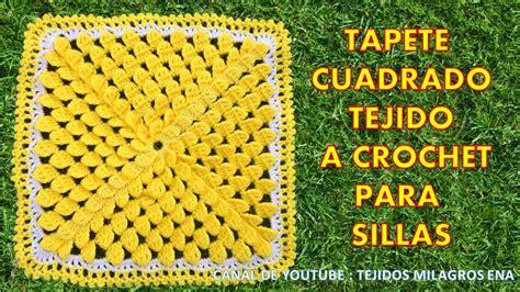 como hacer un cojin cuadrado tapete cuadrado o cojin cuadrado tejido a crochet para