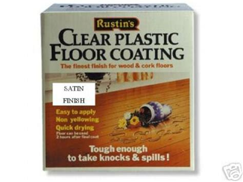 rustins clear plastic floor coating varnish 4l satin ebay