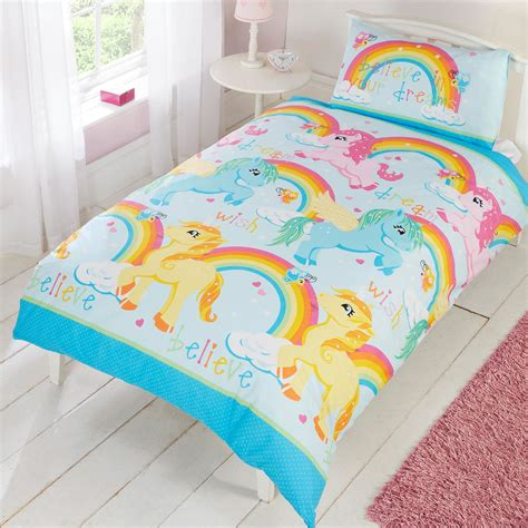unicorn bedding for kids character and themed single duvet cover kids bedding sets