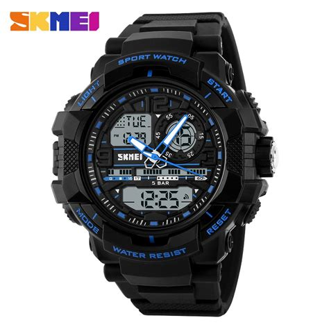 Skmei Jam Tangan Digital Pria Dg1215s Black skmei jam tangan analog digital pria ad1164 black blue