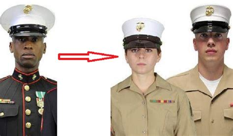 female regulations marine corps presentation pres lucifer wants to neuter our manly marines