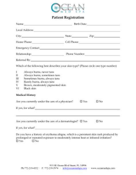 Patient Profile Form Patient Profile Template