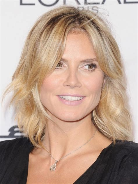 medium haircuts heidi klum heidi klum medium length curly hair hairstyle 2013