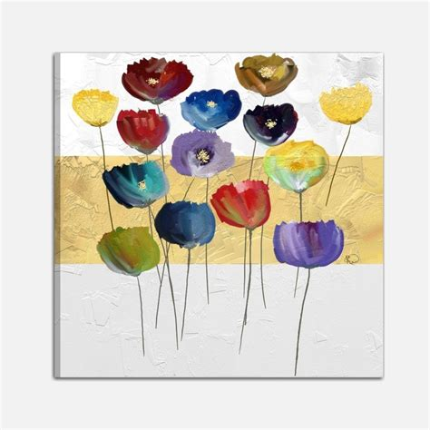 quadri con fiori quadro dipinto a mano con raffigurazione di fiori