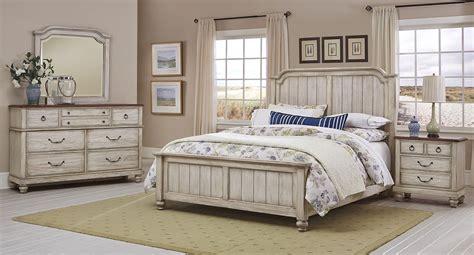 arrendelle panel bedroom set rustic white vaughan bassett furniture cart