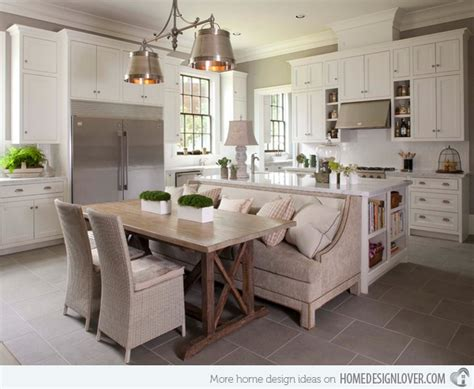 eat in kitchen islands 15 traditional style eat in kitchen designs