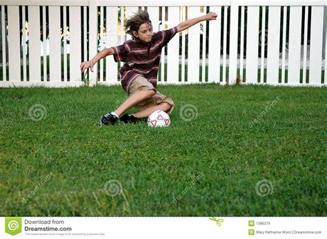 Backyard Soccer Free by Backyard Soccer Royalty Free Stock Images Image 1386379
