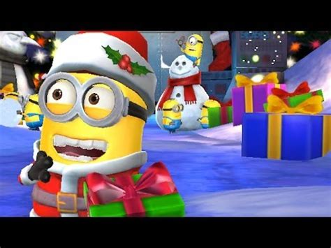 imagenes de minions vestidos de santa claus minion rush holiday lab christmas update gameplay youtube