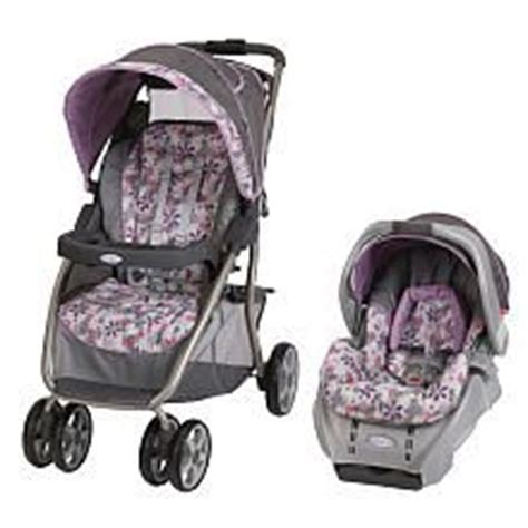 purple and gray stroller and carseat graco dynamo quot adaline quot gray seat grey stroller purple