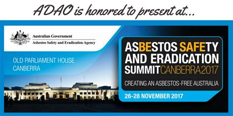 Mba Asbestos Awareness Canberra by Adao Is Honored To Present At Asea S 4th Annual Asbestos
