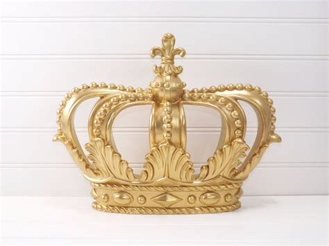 crown decor gold princess crown gold crown crown wall decor little