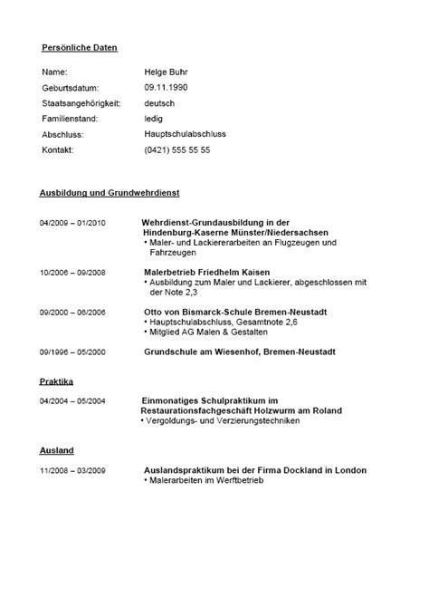 Bewerbung Anschreiben Ausbildung Maler Und Lackierer Bewerbung Und Lebenslauf Maler Vorlagen Zum