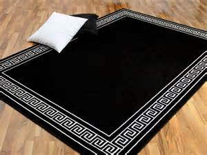 teppich weiß schwarz trendline schwarz wei 223 r 246 mische bord 252 re lidl deutschland