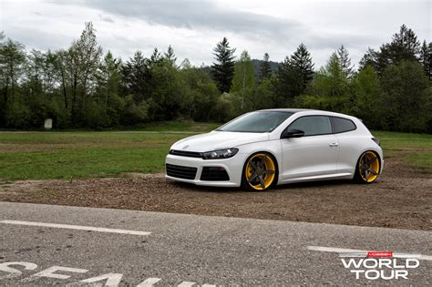slammed cars vw scirocco r slammed on vossen wheels autoevolution