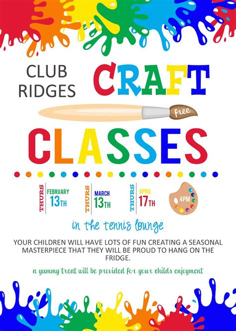 Free Arts And Crafts Flyer Templates