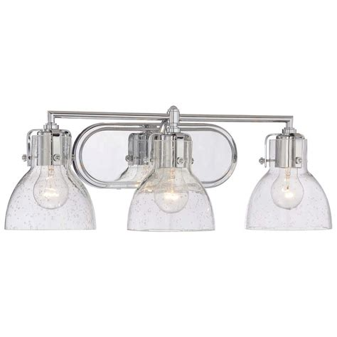 Chrome Vanity Lighting Bathroom Lighting The Home Depot Lights And Ls by Minka Lavery 3 Light Chrome Bath Vanity Light 5723 77 The Home Depot