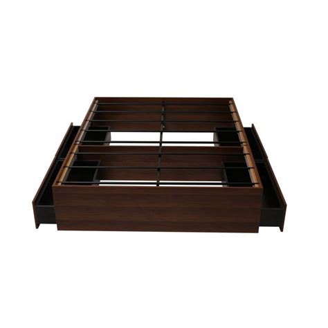 4 Drawer Bed Base by Modern Walnut Bed Base With 4 Large Drawers Buy