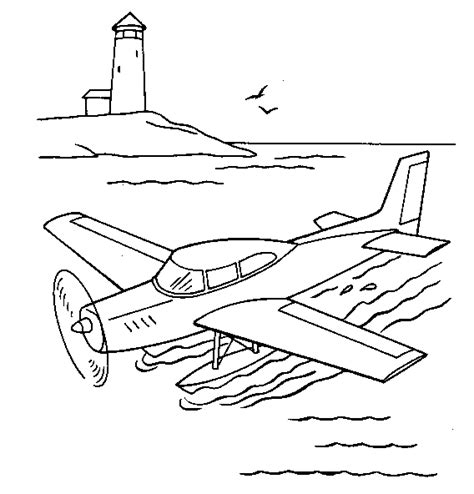 water plane coloring page vehicles coloring page water plane all kids network