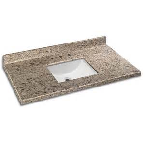Granite Vanity Tops In Stock Glacier Bay 49 Inch X 22 Inch Giallo Ornamental Granite