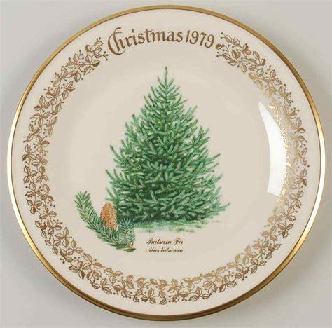 lenox christmas tree balsam fir plate 1979 74045 ebay