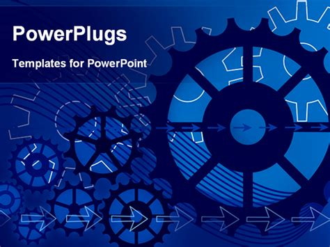 best powerpoint template vector gears engineering