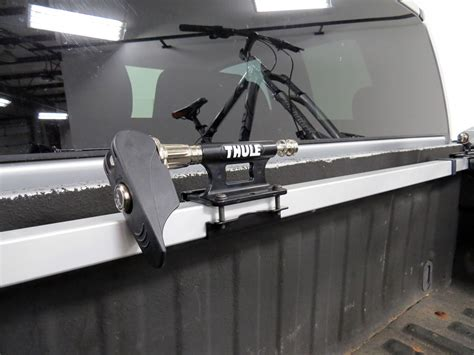 thule bike rack truck bed thule bed rider 2 bike rack for truck beds fork mount