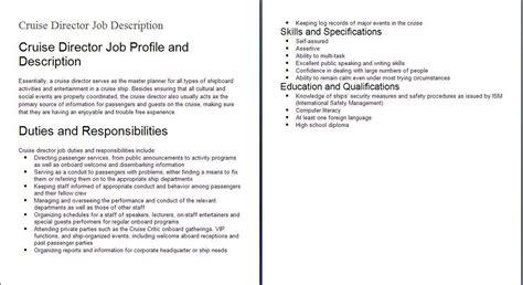 Exle Of Job Description Gallery Download Cv Letter And Format Sle Letter Hospitality Description Template