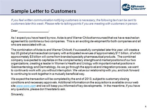 Customer Letter Announcing Acquisition Questions And Answers Graphic Omitted Graphic Omitted 9