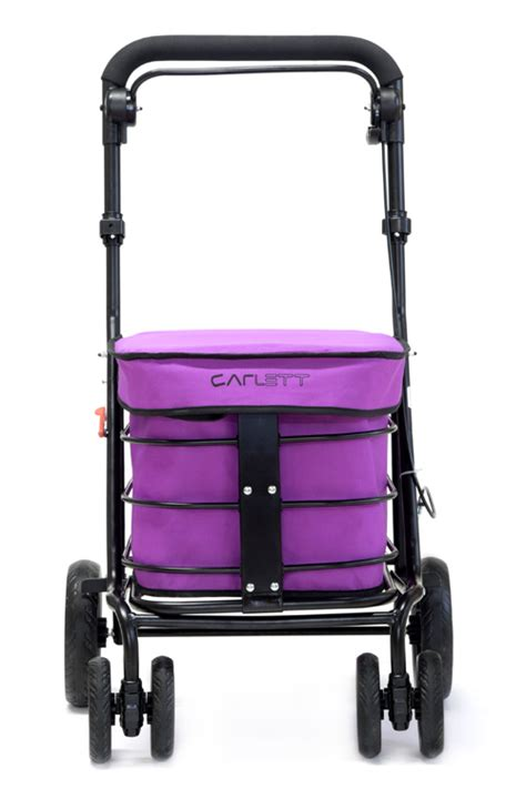 walking trolley with seat deluxe walk rest folding 6 wheel shopping trolley with