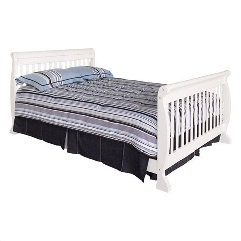 Convertible Crib Bed Rails Davinci Kalani 4 In 1 Convertible Crib With Bed Rails In White M5501w M4799w Pkg
