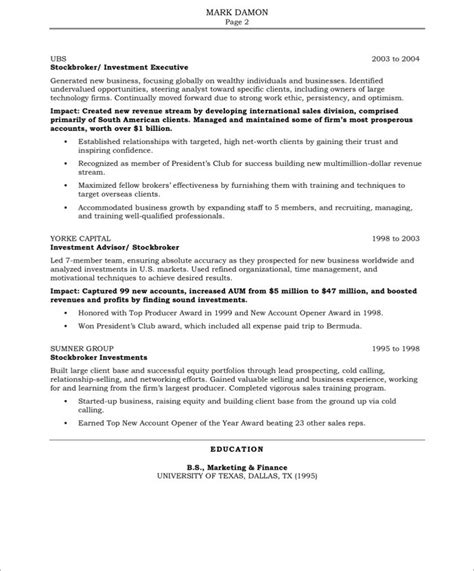 Resume Sles After 12th Sales Resume Description