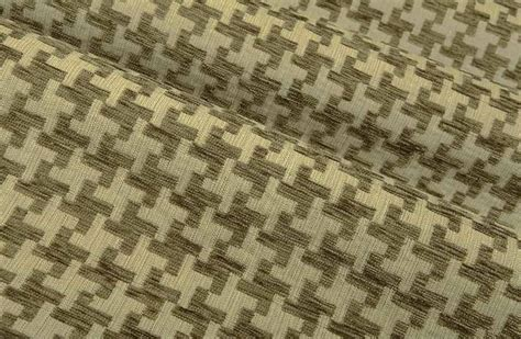 large scale houndstooth upholstery fabric great scott in khaki is a tan houndstooth upholstery