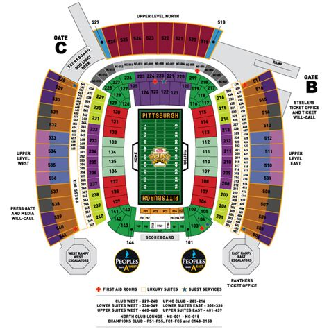 field seating chart image gallery heinz field seating chart