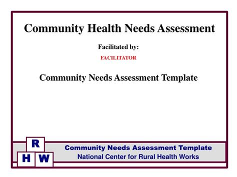 community needs assessment template ppt facilitated by facilitator community needs