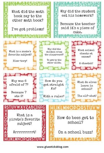 printable jokes and riddles for seniors printable lunch box jokes gluesticks