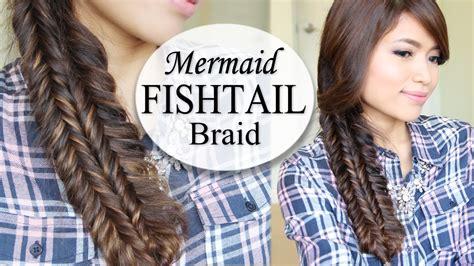 easy hairstyles with box fishtales mermaid double fishtail braid hairstyle hair tutorial