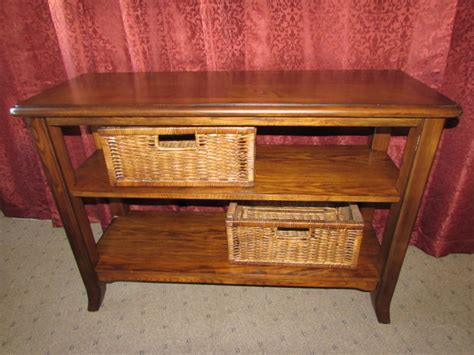 sofa table with storage baskets lot detail lovely matching sofa table with basket storage