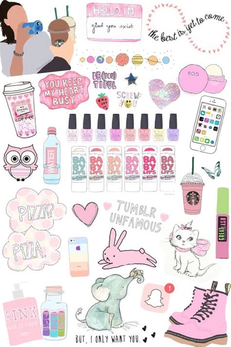 wallpaper girl things collage stickers tumblr buscar con google doddle