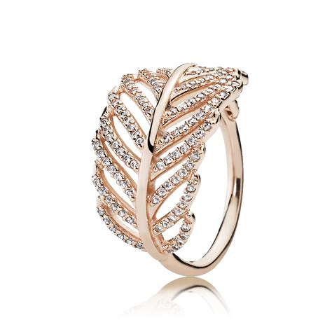Light As A Feather Ring Pandora Clear Cz Pandora