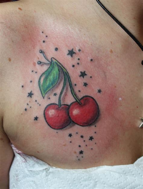 32 bow cherry tattoos ideas