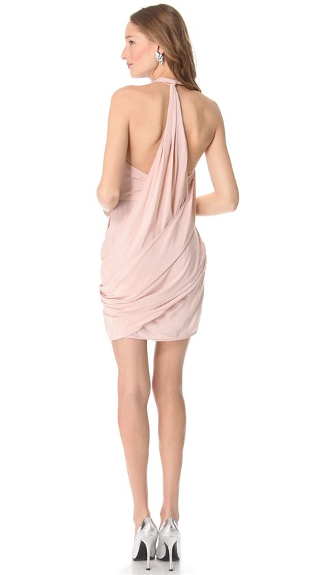 zimmermann back drape dress zimmermann back drape dress white in pink lyst