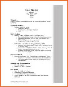 Scholarship Resume Outline 5 Cv Template For Scholarship Event Planning Template