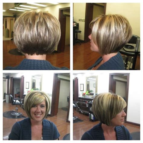 stacked bob haircut pictures with bangs short stacked bobs with bangs best short hair styles